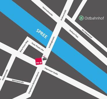 Stadtplan Standort LBZ Berlin-Brandenburg