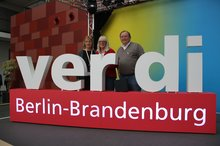Landesbezirksleitung (v.l.: Gabi Lips, Susanne Stumpenhusen, Roland Tremper)