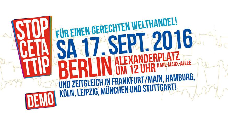 CETA TTIP DEMO Logo