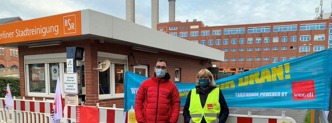 Tarifrunde ÖD 2020: Protest am 20.10.2020 bei der BSR Berlin