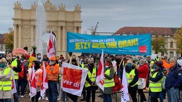 Tarifrunde ÖD 2020: Protest am 21.10.2020 in Potsdam