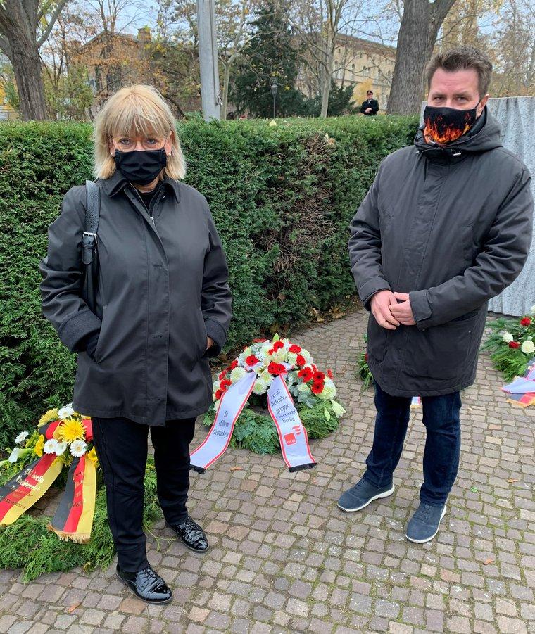 Gedenkveranstaltung der Berliner Feuerwehr am Totensonntag 2020