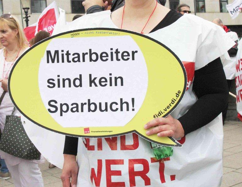 Banken-Streik am 20.6.2019 in Hamburg