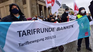Tarifrunde Banken BB: Erste Warnstreiks in Berlin und Brandenburg am 28.09.2021