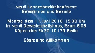 Beamtenkonferenz Berlin