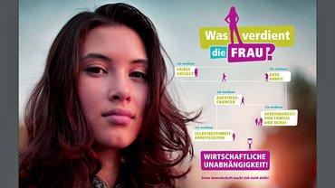 Was verdient die Frau? Plakatmotiv