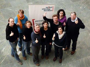 Gruppenfoto der Mitglieder der Landeskommission Selbstständige Berlin-Brandenburg