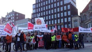 Streik bei Madsack Februar 2014