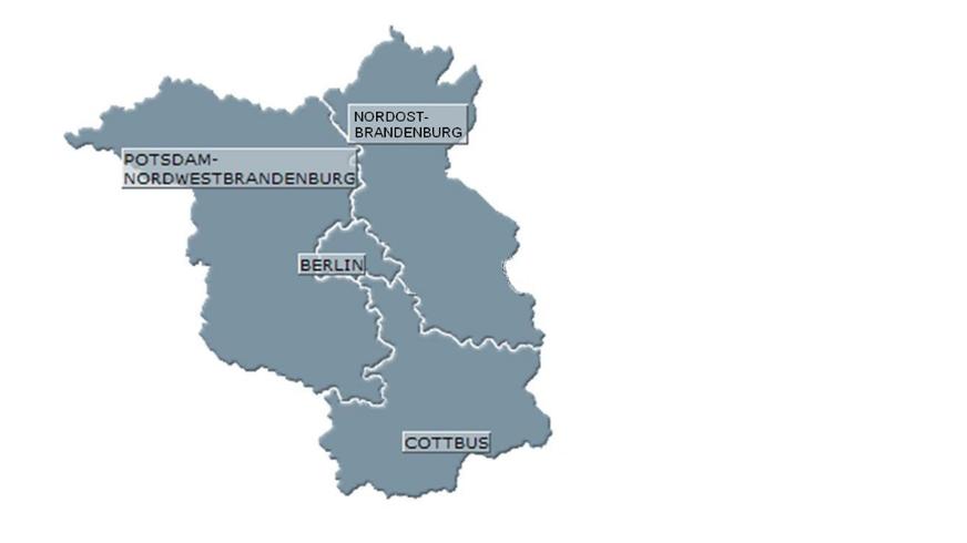 Karte Bezirke in Brandenburg