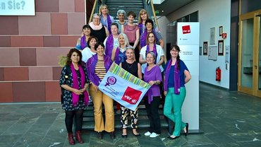 Unsere (Landes-)Bezirksfrauen beim Treffen mit den Schweizer Gewerkschafterinnen in Berlin.
