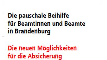 Brandenburg Pauschale Beihilfe